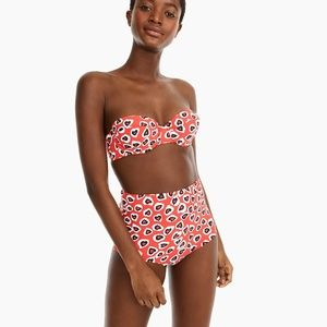 J.Crew Demi Underwire Top and High Waisted Bottom